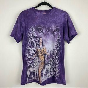 The Mountain Native American Women Snow Wolf Tee